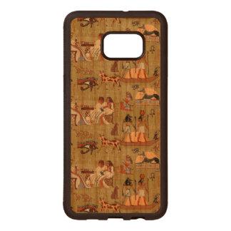 Egypt   Symbols Pattern Wood Samsung Galaxy S6 Edge Case