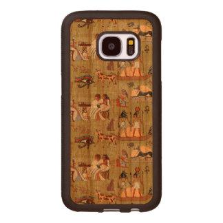 Egypt   Symbols Pattern Wood Samsung Galaxy S7 Case