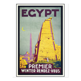 Egypt Vintage Travel Art Poster Postcard
