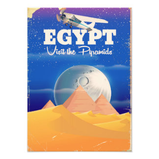 Egypt - Visit the Pyramids Vintage travel poster