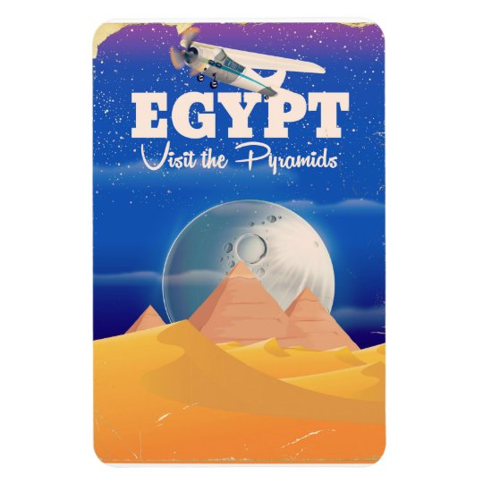 Egypt - Visit the Pyramids Vintage travel poster Magnet