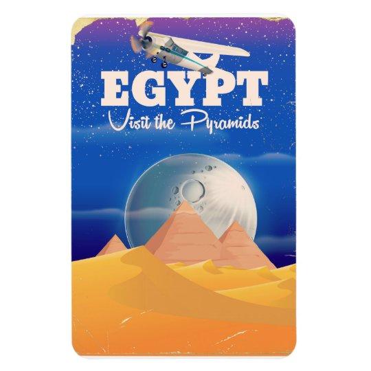 Egypt - Visit the Pyramids Vintage travel poster Rectangular Photo Magnet