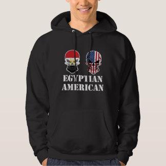 Egyptian American Flag Skulls Hoodie