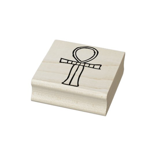 Egyptian ankh illustration art stamp