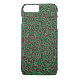 Egyptian arabic geometric pattern in brown green iPhone 8 plus/7 plus case