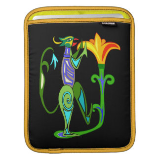 Egyptian Art With Lotus Flower iPad Sleeve