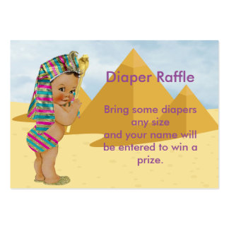 Egyptian Baby Shower Raffle Ticket Large Business Card