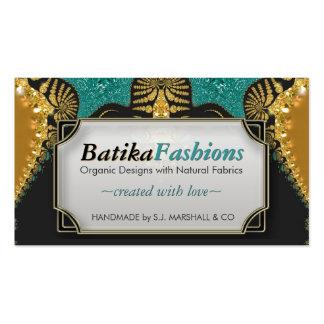 Egyptian Batik Fusion Fashion Business Cards