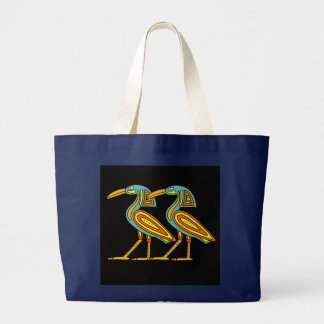 EGYPTIAN BIRDS LARGE TOTE BAG