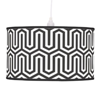 Egyptian Black And White Pattern Decorative Hanging Lamps