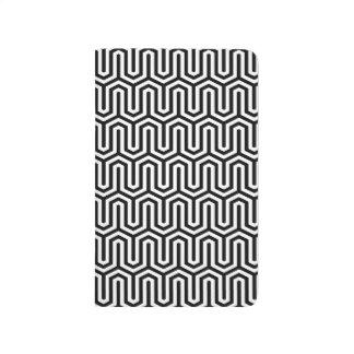 Egyptian Black White Bold Modern Primitive Pattern Journal