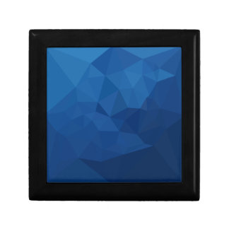 Egyptian Blue Abstract Low Polygon Background Gift Box