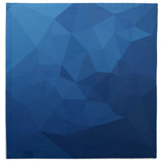 Egyptian Blue Abstract Low Polygon Background Napkin
