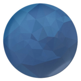 Egyptian Blue Abstract Low Polygon Background Plate