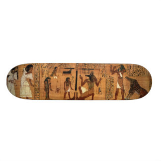 Egyptian books of the dead. skate board