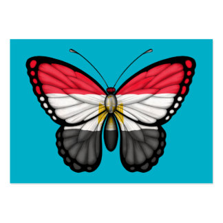 Egyptian Butterfly Flag Business Card
