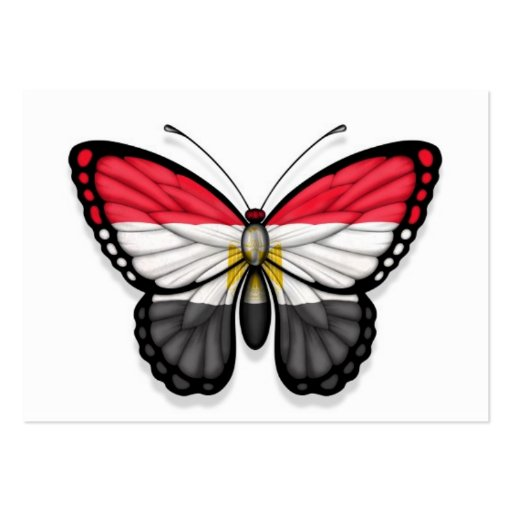 Egyptian Butterfly Flag Business Card Template