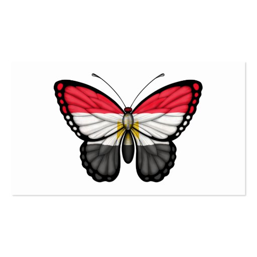 Egyptian Butterfly Flag Business Cards