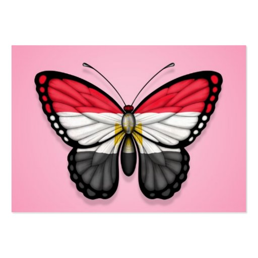 Egyptian Butterfly Flag on Pink Business Cards