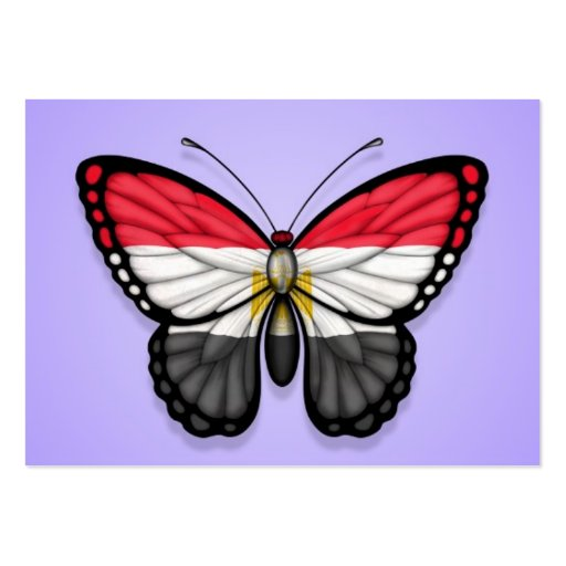 Egyptian Butterfly Flag on Purple Business Card