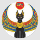Egyptian Cat Classic Round Sticker