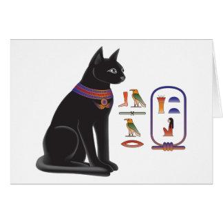 Egyptian Cat Goddess Bastet Card