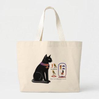 Egyptian Cat Hieroglyphic Tote Bag
