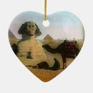 Egyptian Ceramic Heart Ornament
