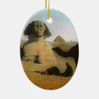Egyptian Ceramic Oval Ornament