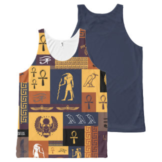 Egyptian Collage All-Over-Print Tank Top