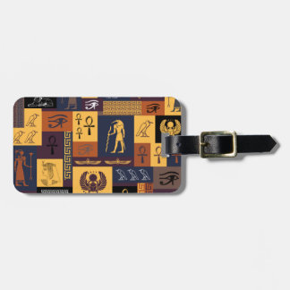 Egyptian Collage Luggage Tag