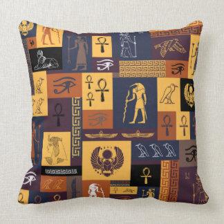 Egyptian Collage Throw Pillow