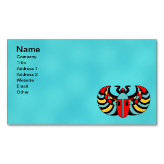 Egyptian Colorful Bold Vibrant Scarab Beetle Magnetic Business Card