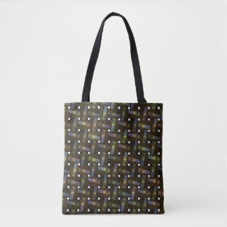 Egyptian Cross Weave Pattern, Tote Bag