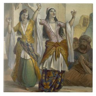 Egyptian Dancing Girls Performing the Ghawazi at R Ceramic Tile