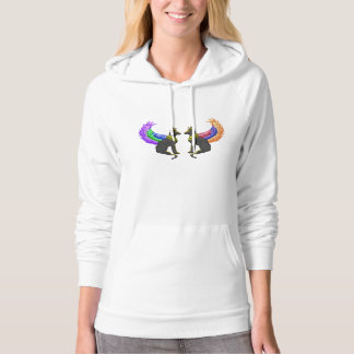 egyptian dog with wings hoodie