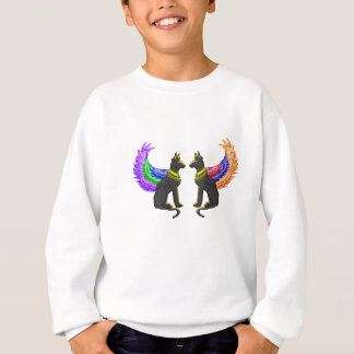 egyptian dog with wings sweatshirt