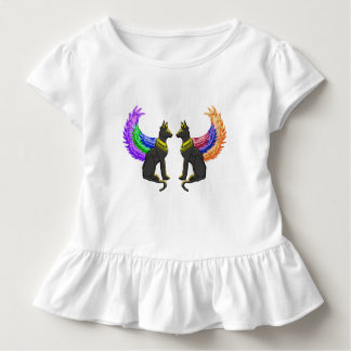 egyptian dog with wings toddler t-shirt