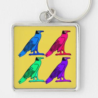 Egyptian Eagle Square Keychain