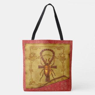 Egyptian Elegance Optical Folk Art Tote Bag
