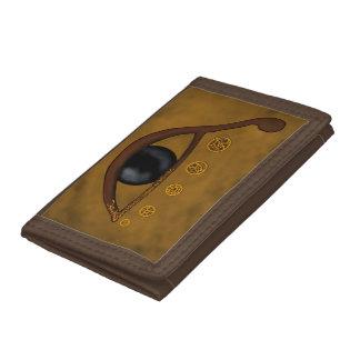Egyptian Eye -Brown Tri-fold Wallets