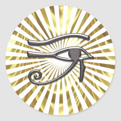 Egyptian Eye of Horus Gold and Black Stickers