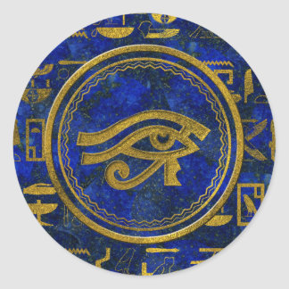Egyptian Eye of Horus - Wadjet Lapis Lazuli Classic Round Sticker