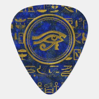 Egyptian Eye of Horus - Wadjet Lapis Lazuli Guitar Pick