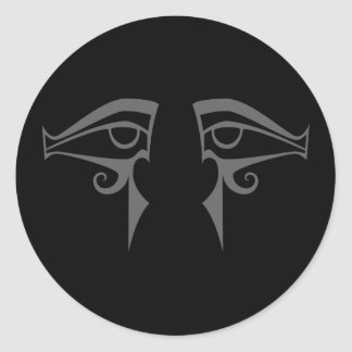 egyptian eyes horus and isis classic round sticker