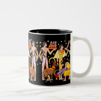 EGYPTIAN FEAST Two-Tone COFFEE MUG