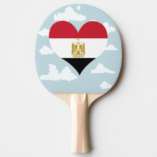 Egyptian Flag on a cloudy background Ping Pong Paddle