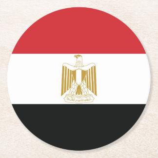 EGYPTIAN FLAG ROUND PAPER COASTER