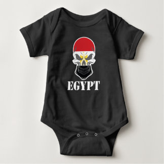 Egyptian Flag Skull Egypt Baby Bodysuit