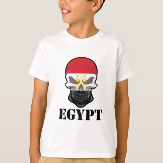 Egyptian Flag Skull Egypt T-Shirt
